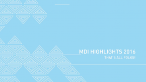 MDI Highlights 2016 Video